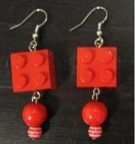 Orecchini Lego Rosso