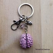 Portachiavi cervello in fimo