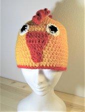 Berretto - berretto in lana - berretto fatto a mano  - Berretto carnevale - Berretto pulcino