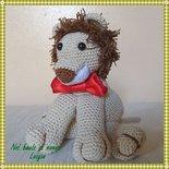 Leone Lionel giocattolo amigurumi crochet uncinetto cotone