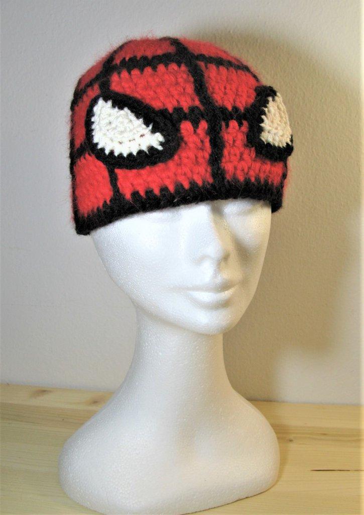 Berretto - berretto in lana - berretto fatto a mano - Berretto carnevale - Berretto uomo ragno