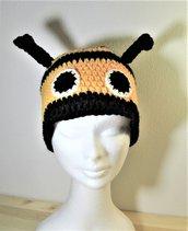 Berretto - berretto in lana - berretto fatto a mano - Berretto carnevale - berretto ape