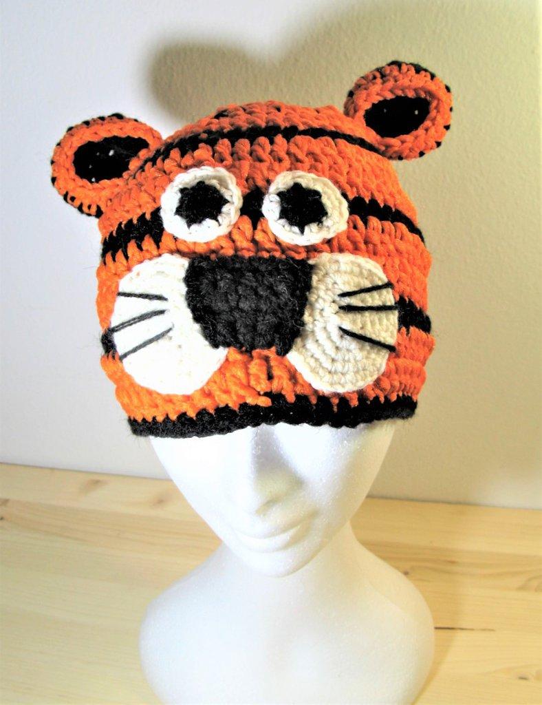 Berretto - berretto bimbi - berretto fatto a mano - berretto per carnevale - berretto tigrotto