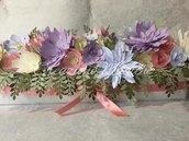 CENTROTAVOLA PRIMAVERA con fiori di carta