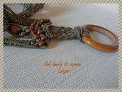 Cintura cordone nodi macramè