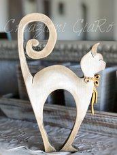 Gatto in legno