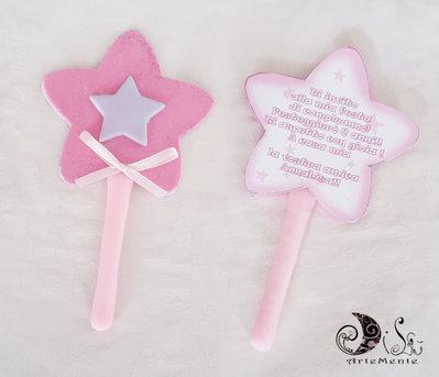 Invito bacchetta magica stella originale invito per bambine principessa, maga, magia, fate, streghe