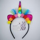 Cerchietto Unicorno - Multicolore semplice