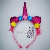 Cerchietto Unicorno - Colorato semplice