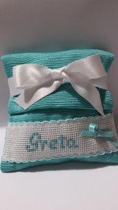 Bomboniere Verde Tiffany, Sacchetti Porta Confetti Tiffany Promessa, Nascita, Battesimo, Comunione