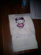 asciugamano  hello kitty