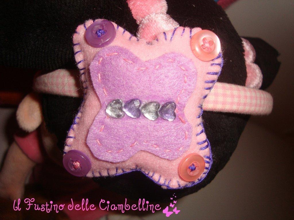 cerchietto con farfallina lilla
