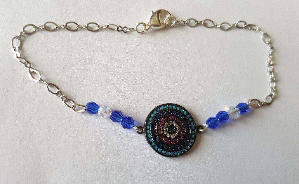 Bracciale Link Disco Sapphire