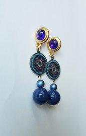 Orecchini  pendenti Gold Sapphire