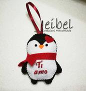 pinguino san valentino, regalo, animali, ice