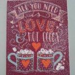 Quadro mosaico con cornice a giorno 20x25