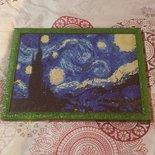 """Quadro mosaico con cornice """"Notte stellata"""" misura 40×30"""