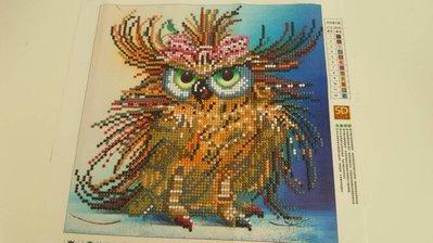 Quadro mosaico  civetta  misura 25X25