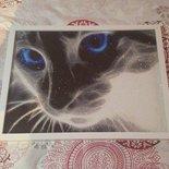 """Quadro mosaico  """"gatto oscuro"""" misura 40x30"""