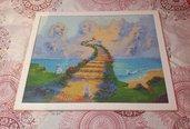 """Quadro mosaico con cornice """"cani in paradiso"""" misura 50x40"""