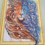 Quadro mosaico brillante di strass misura 40x50