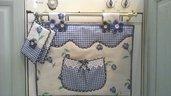Set copriforno e presine floral blue