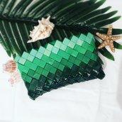 Pochette candy wrapper bag verde