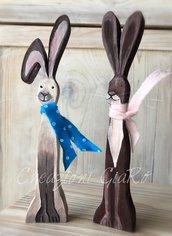 Conigli in legno
