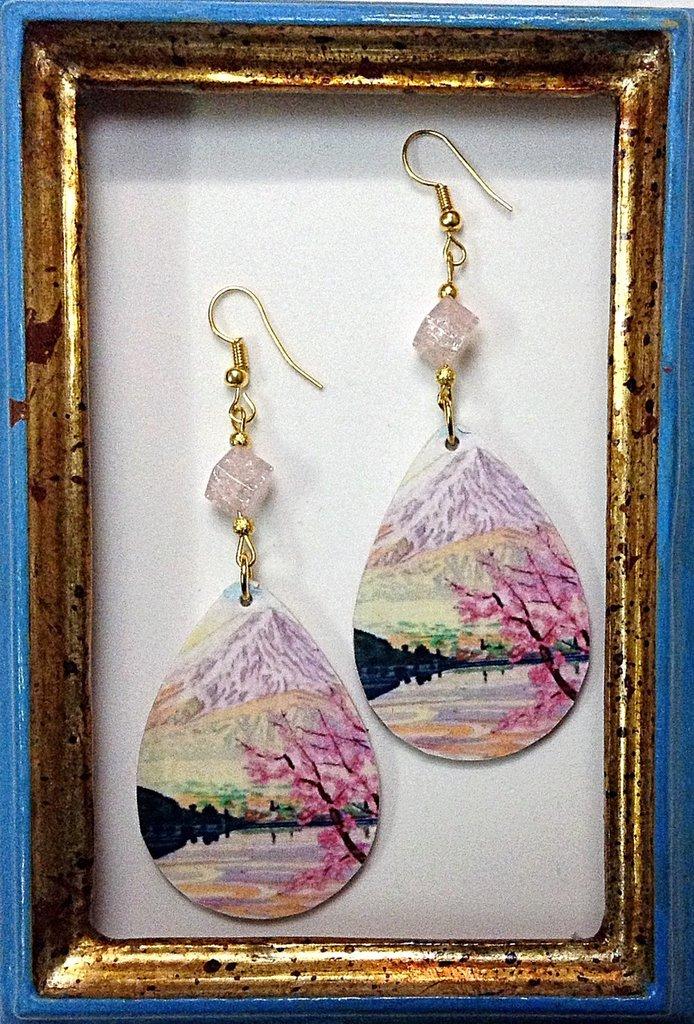 MONTE FUJI Orecchini handmade