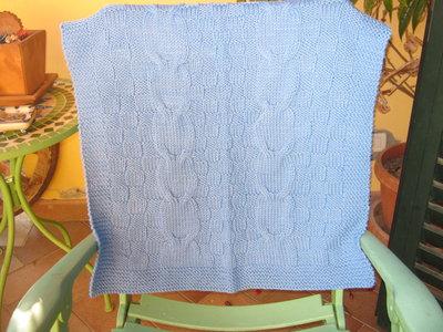 copertina lana azzurra