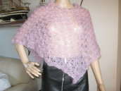 poncho coprispalle in mohair