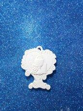 Albero cuore icona prima comunione gesso ceramico per fai da te