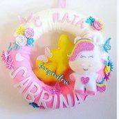 Ghirlanda nascita unicorno