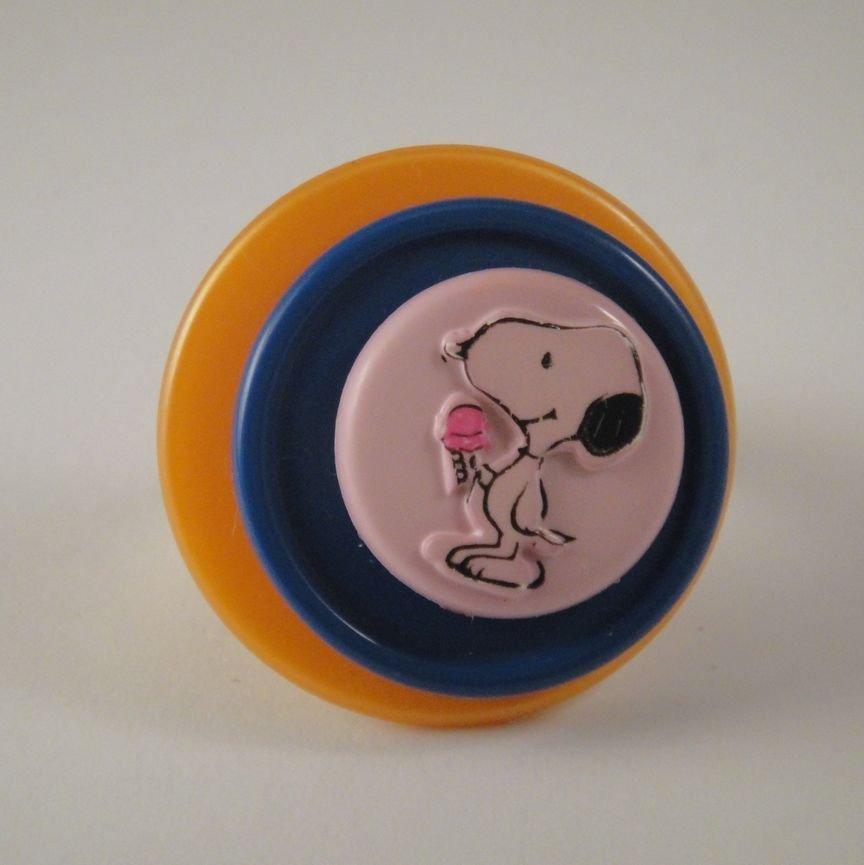 "anello bottone ""snoopy"""