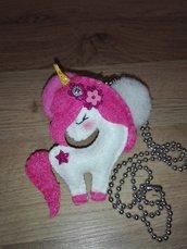 Collana   unicorno  ciondolo
