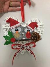 fuoriporta natalizio con gufetti