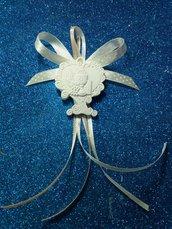 Segnaposto albero cuore con icona prima comunione gesso ceramico profumato