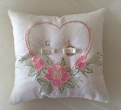 Cuscino portafedi sposi
