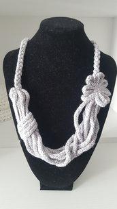 Collana da donna in  puro cotone in tricotin
