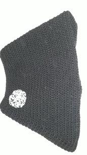 Poncho elegante nero