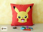 Fodera cuscino ispirata a Pikachu da Pokemon