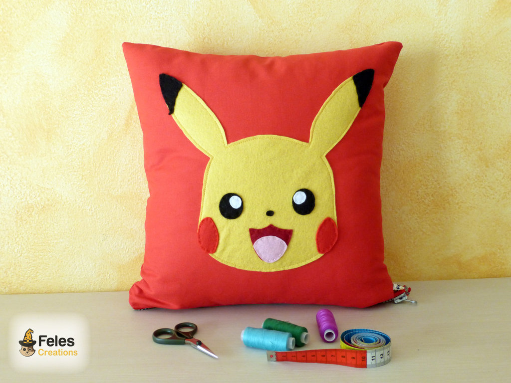 Cuscino ispirato a Pikachu da Pokemon