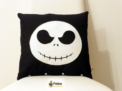 Cuscino ispirato a Jack Skeletron di Nightmare before Christmas