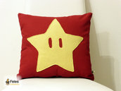 Fodera cuscino ispirato alla stella di Super Mario