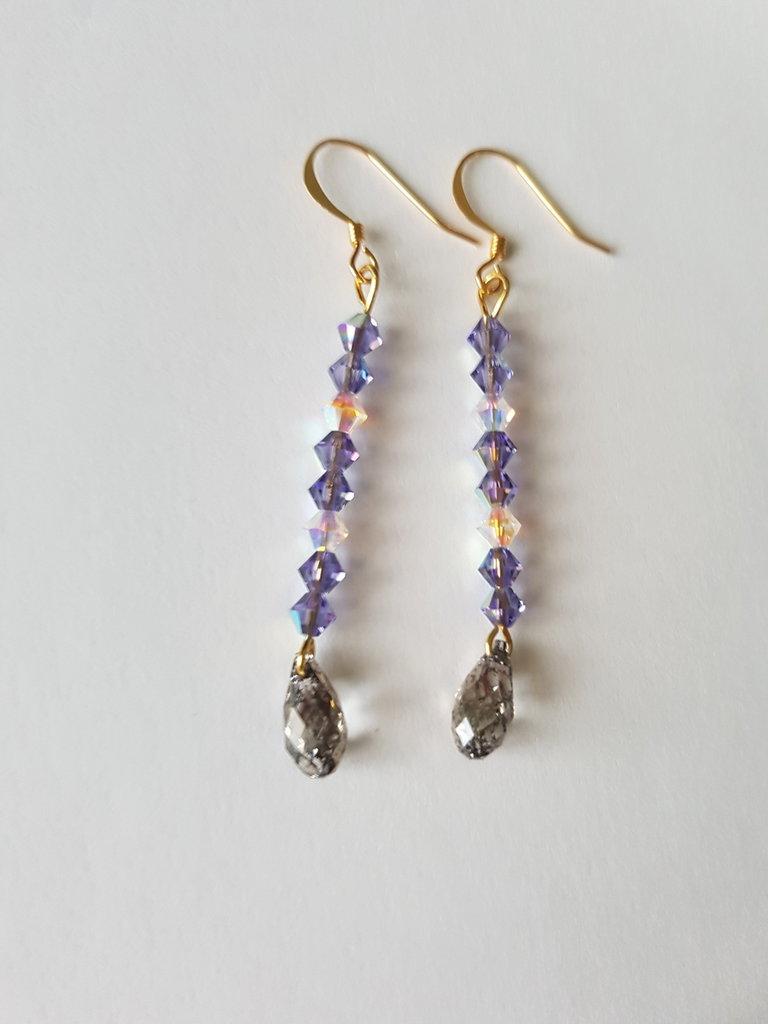 Orecchini pendenti Crystal Violet