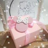 Bomboniera bimba rosa Minnie. Personalizzabile. Idee regalo battesimo. Nascita.