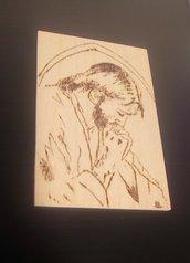 Icona in legno. Gesù in preghiera.