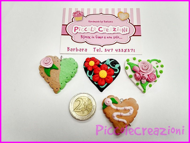 STOCK CIONDOLI CUORE MIX FIMO 4