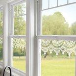 Merletto adesivo per finestre 1 pezzo da 55 cm