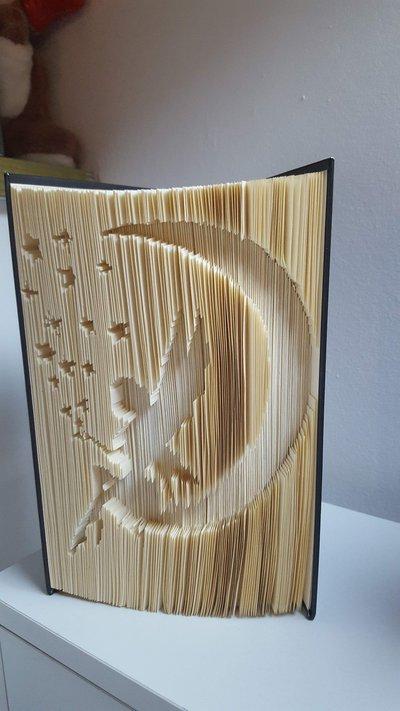 Libro scultura fata sulla luna